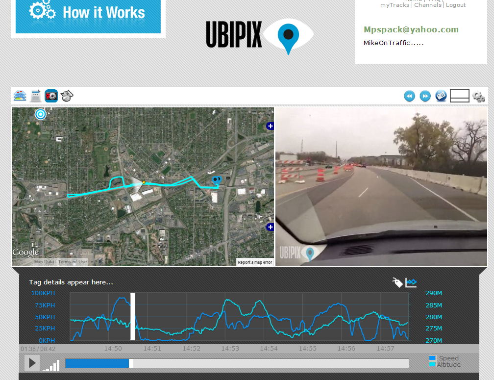 Free Dashboard Cam App - Review of Ubipix - Mike on Traffic