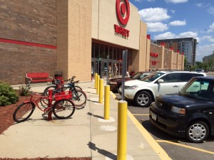 bike rack at Target St. Louis Park, MN