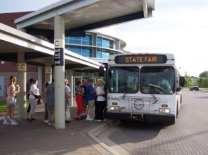 Buses at Minnesota State Fair