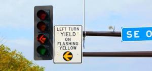 Flashing Yellow Arrow - 600x245